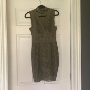 Guess olive green lace dress